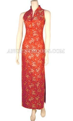 Quality Chinese Silk Brocade QiPao,Chinese Dresses,Chinese Clothing for sale