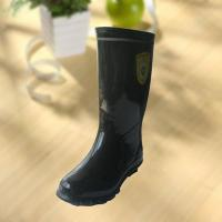 High quality black rubber safety working knee boot Manufactures