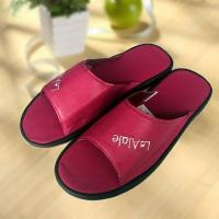 Rose red cool Imitation ox-tendon sole leather slipper Manufactures
