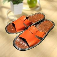 Comfortable cool leather slipper indoor/outdoor Manufactures