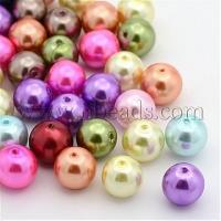 Mixed Pearlized Glass Pearl Round Beads Strands, Dyed, Size:...(X-HYC002) Manufactures