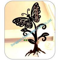 Butterfly shaped metal jewelry display holder
