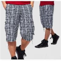 Men's Casual Overalls Wide Grid Shorts Manufactures