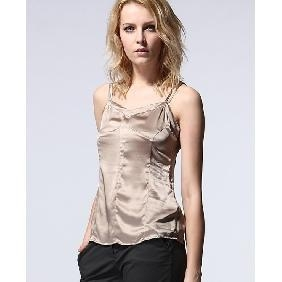 Quality Women European Style Camisoles Comfortable Silk Spaghetti-strapped Shirt for sale