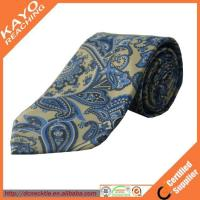 fashion blue color printed paisley tie Manufactures