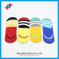 2016 Fashion Boys Invisible Colorful Stripe Socks Manufactures