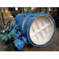 Double eccentric flanged electric operated butterfly valve Manufactures
