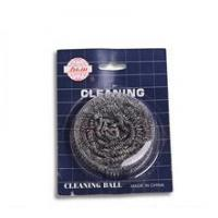 silver cleaning scrubber mesh cleaning ball , metal scourer,mesh scourer Manufactures