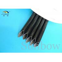 High Voltage Silicone rubber fiberglass sleeving inside fiber and outside rubber Manufactures