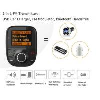 3 IN 1 Bluetooth 3.0 Handsfree FM Modulator FM Transmitter