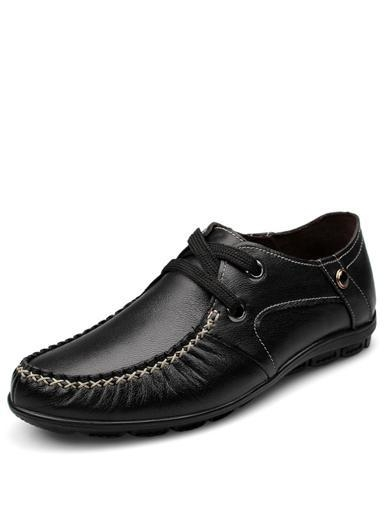 Quality All-Season Stitching Trim Ruched Casual Shoes in Solid Color for sale