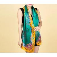 Buy cheap Crepe satin long scarf/shawl,100% silk,12 momme,170x50cm,printing from wholesalers