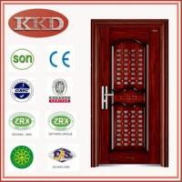 Steel Security Door KKD-707 for Apartment Entry with Communicating Door in Door Manufactures