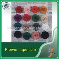 Buy cheap artificial flower wholesale fabric flower flower lapel pin from wholesalers