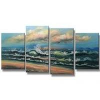 Handmade Acrylic Textured Abstract Seascape Painting Reproduction From China For Bedroom Manufactures