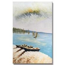 Quality Modern Canvas Natural Village Scenery Art Picture of Painting for sale