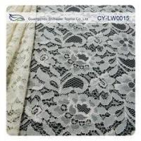 Nylon Viscose Corded Lace Fabric For Clothing 145CM - 150 CM Width CY-LW0015 Manufactures