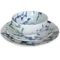 Marble Texture Ceramic Tableware Set With Bowl,Dinner Plate,Side Plate Manufactures