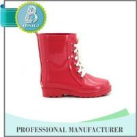 China Manufacturer Environmental solid pink cute lace rubber boot Manufactures