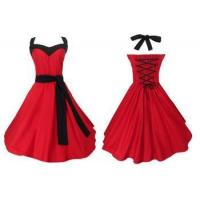 wholesale manufacturer mod clothing custom made vintage style fashion red evening dresses Manufactures
