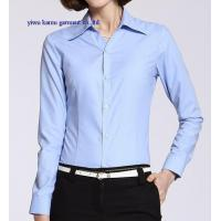Long sleeve woman formal dress shirts cotton office lady dress blouse Manufactures