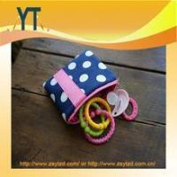Blue And Pink Polka Dot Baby Pacifier Bag,Baby Pacifier Clip,Baby Pacifier Holder Manufactures