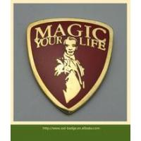 Soft magic shield shaped lapel pin badge/ imitated enamel magic lapel badge for film promotion Manufactures