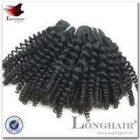 China 5a Virgin Spring Curl Remy Human Hair Weave Yes Virgin Hair on sale