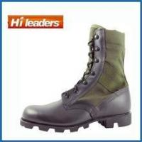 Hot Weather Olive Cordura First Grade Leather Jungle Boot with Panama Outsole Manufactures