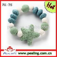 (PLL-773)Good Sale Lava Starfish Bangle Bracelet Jewelry For Women