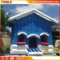 Christmas Cottage inflatable bouncy castle/Christmas Cottage inflatable jumping bouncer for sale Manufactures