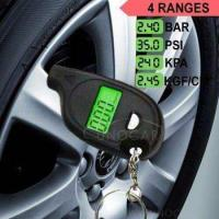 keychain LCD tire pressure gauge with led light Portable Mini tyre guage Manufactures
