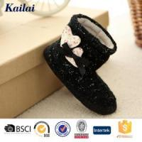 Baby Shoes Cashmere Heart-shaped Bowknot Baby Boot Manufactures