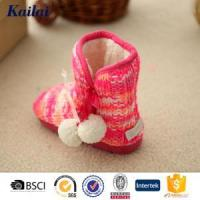 Baby Shoes Cashmere Pom Pom Baby Shoe Manufactures