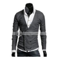 POPHOMME Korea Double Breasted Wool Sweaters