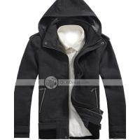 Xuque Fashion Hooded Zipper Closer Wool Mens Overcoat Manufactures