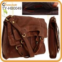 Messenger style lamb leather shoulder bag