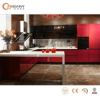 Cherry color New Style High Gloss Lacquer kitchen cabinets Manufactures