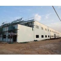 Two Storeys Steel Structure Workshop With Brick Wall Manufactures