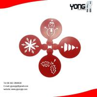 Cartoon S/S coffee stencil,Christmas pattern Manufactures