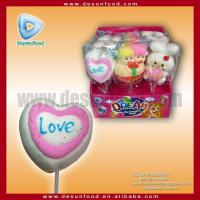 Valentine love marshmellow pop candy