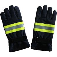 Navy Blue Nomex Firefighter Gloves Manufactures