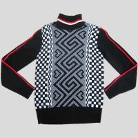 Knitted mens sweater with jacquard pattern Y212 Manufactures