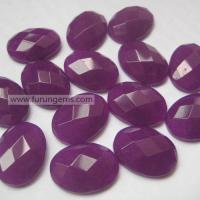 Semi-precoius Stone / loose stone purple jade faceted oval cab 20x15mm Itemfr130341