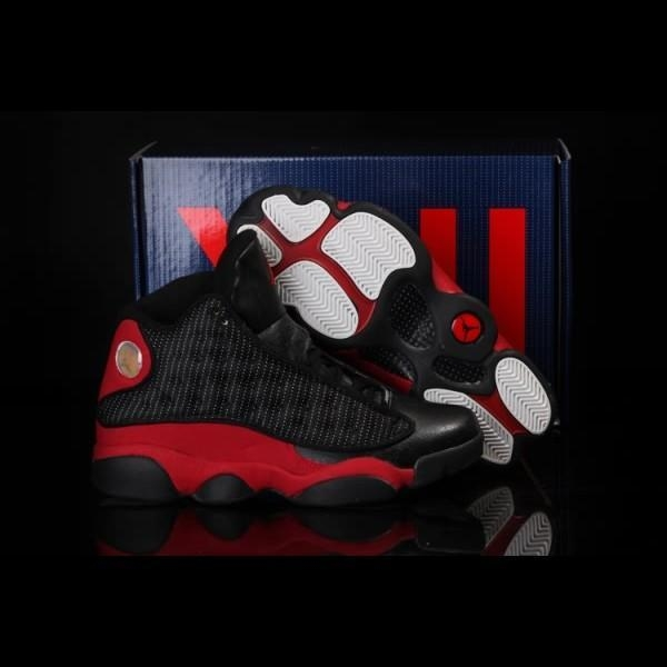 Quality Air Jordan Retro XIII 13 Cool Summer Shoes Mens Black Red for sale