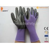 Violet nylon with black nitrile glove-DNN810 Manufactures