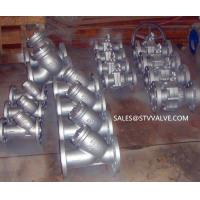 JIS flanged Ystrainer ASTM A216 Flanged Y Strainer, 3 Inch Manufactures