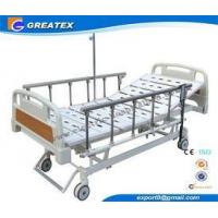 Remote Control Mobile Handicapped Electric Hospital Bed With IV Pole Three Functions