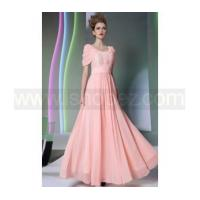 New Fashion Pink Party Dress, Cap Sleeve Prom Dress Manufactures