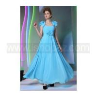 New Prom Dress/Quinceanera Dress - Spaghetti Straps Drape Flowers Blue Dress With Jacket Manufactures